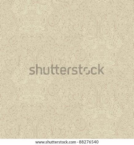 antique oriental seamless pattern - stock vector