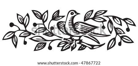 antique ornament engraving, scalable and editable vector illustration - stock vector