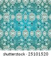 Antique ottoman wallpaper vector design illustration - stock vector