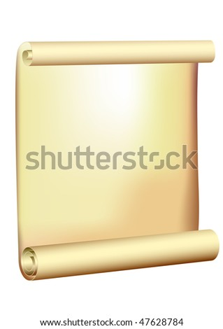antique scroll - old parchment - vector - stock vector