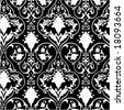 Antique scroll wallpaper - seamless and vector - stock vector