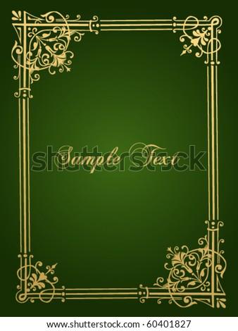 antique vector frame - stock vector