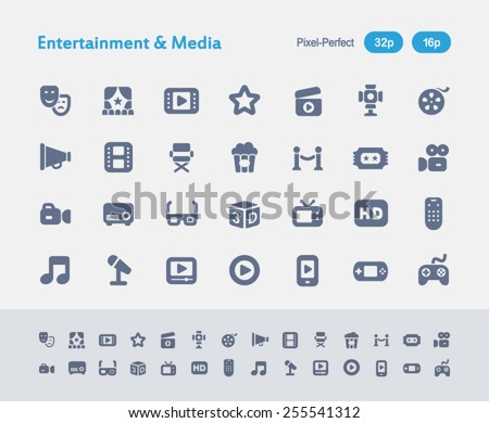 Antz Icon Series. Simple glyph style icons designed in a 32x32px grid and redesigned in a 16x16px grid. - stock vector