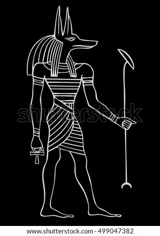 Anubis - God of ancient Egypt - God of funerals, death, the dead and the afterlife