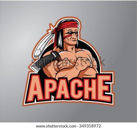 Apache - stock vector