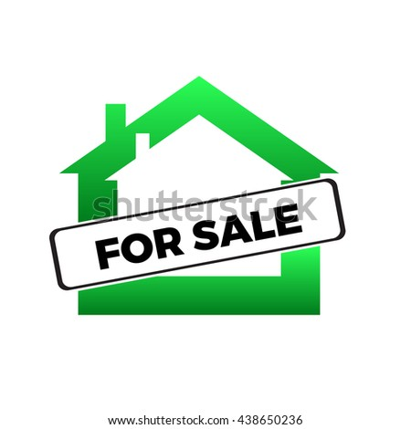 Apartment or house for sale banner, selling a room or flat or other real estate sign. - stock vector
