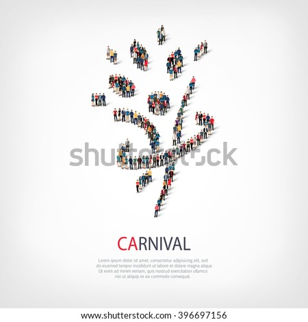 apeople crowd - stock vector