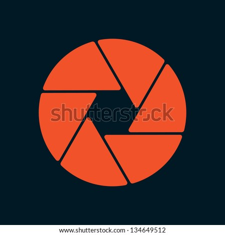 aperture design - stock vector