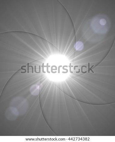 Aperture with rays of light