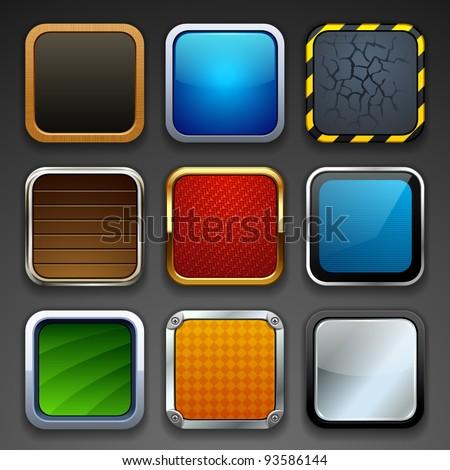 app buttons - stock vector