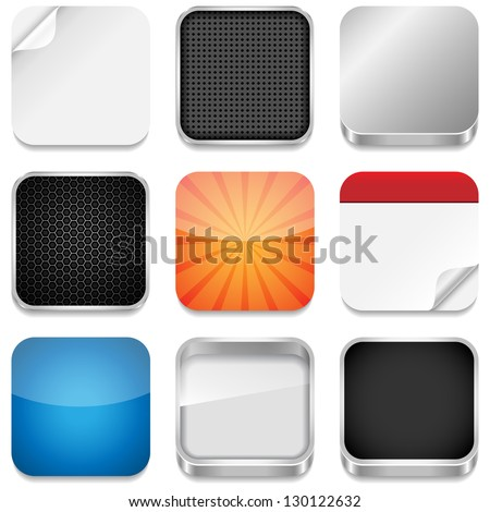 App Icon Templates - Vector backgrounds for app icons.  Eps10 file with transparency. - stock vector