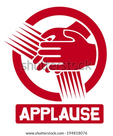 applause sign (clapping icon, clapping hands) - stock vector
