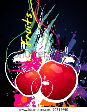 apple fruits abstract vector