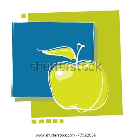 apple icon, modern design, vector - stock vector