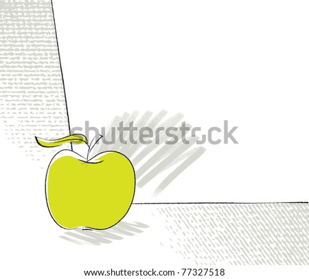 apple icon, page layout (vector) - stock vector