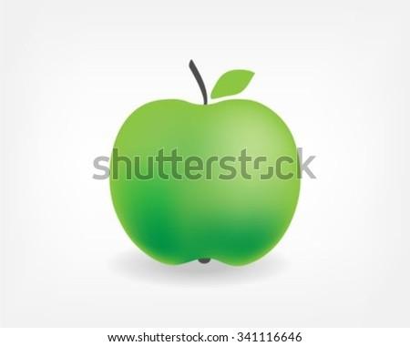 Apple Icon vector - stock vector
