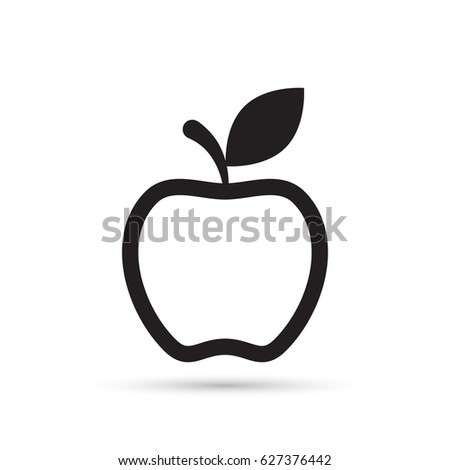 Apple Line Icon Outline Vector Sign Stock Vector 681437704 ...
