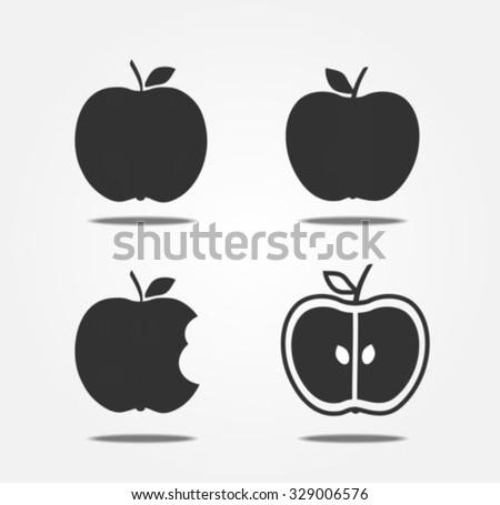 Apple icons - stock vector