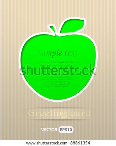 Apple postcard vector illustration - stock vector