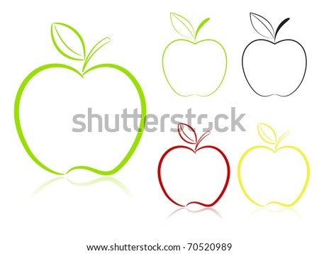 Apple set. Vector - stock vector