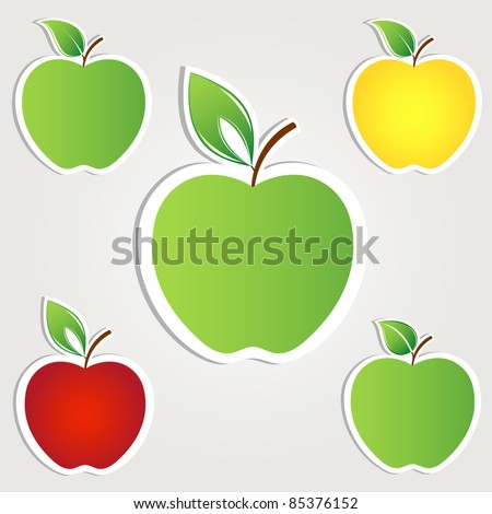Apple set. Vector - stock vector