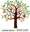 apple tree - stock vector