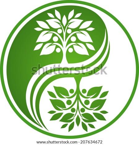Apple tree symbol - stock vector