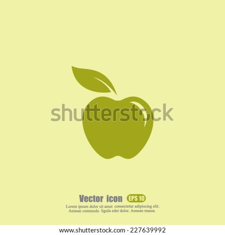 apple vector icon - stock vector