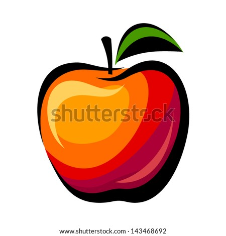 Apple. Vector illustration. - stock vector