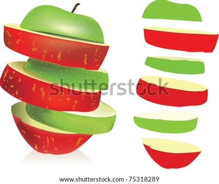 Apples - stock vector