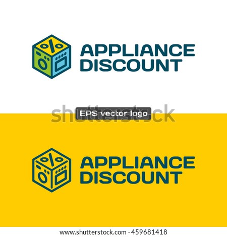 Appliance Discount Logo Kitchen Appliances Discount Stock Vector ...