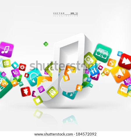 Application button.Social media.Cloud computing. - stock vector