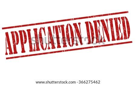 Application denied grunge rubber stamp on white background, vector illustration - stock vector
