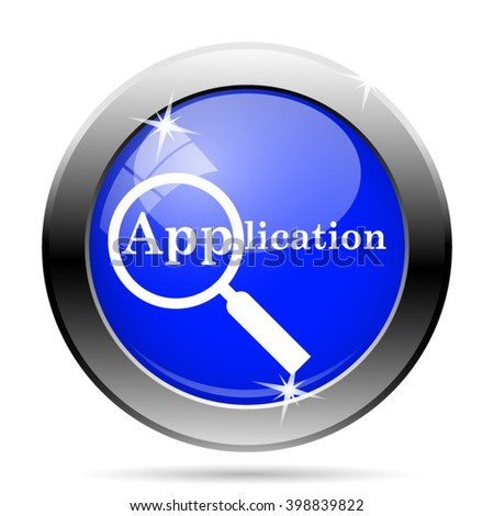 Application icon. Internet button on white background. EPS10 vector - stock vector
