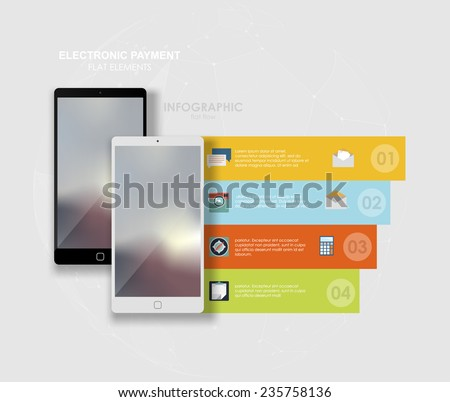 Applications and Online Services Infographic Concept.  IInfographics mobile phone data. Flat social icons smartphone design infographics. Vector illustration - stock vector