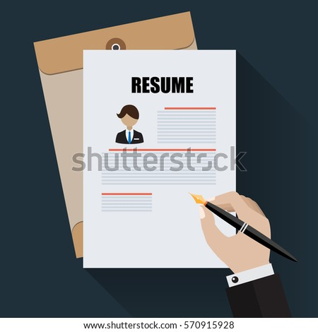 apply new job by application resume ベクター画像素材 570915928