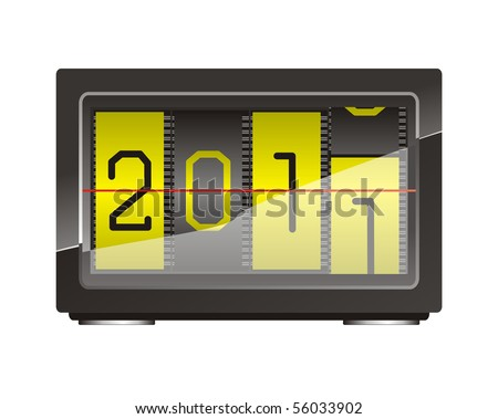 appointment desk calendar concept	, vector editable symbol of new year 		 - stock vector