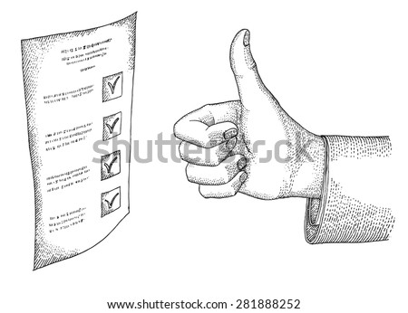 Approval - stock vector