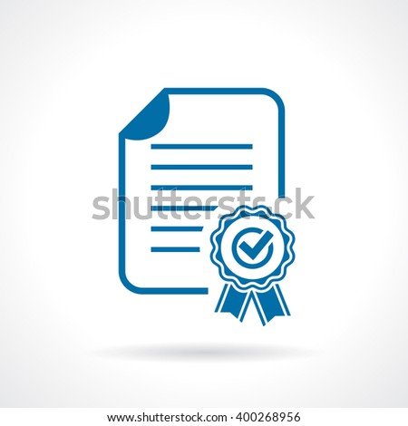 Approval certificate icon vector illustration isolated on white background - stock vector