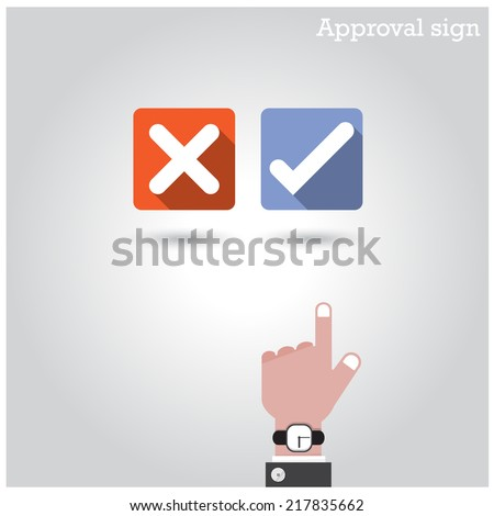 Approval concept. The best choice icons. Vector illustration  - stock vector