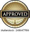 Approved Gold Award - stock vector