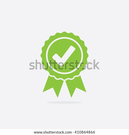 Approved or Certified Medal Icon - stock vector