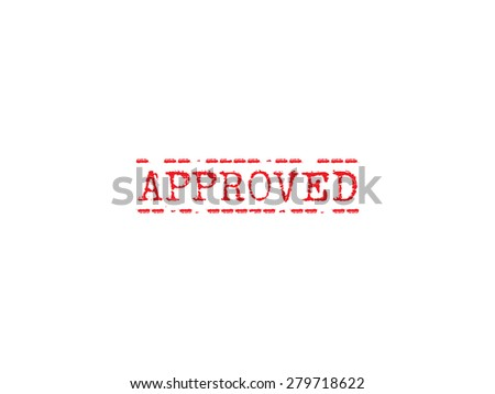Approved rubber stamp sign - stock vector
