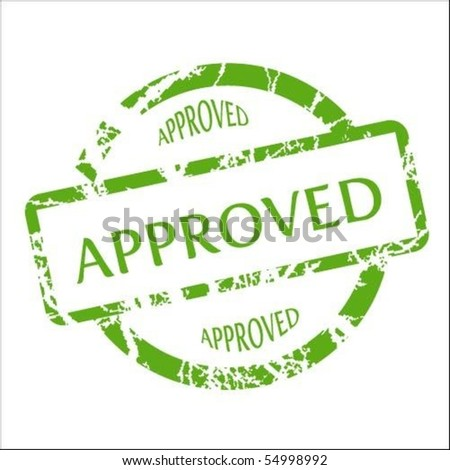Approved stamp vector - stock vector