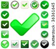 Approved vector buttons. - stock vector