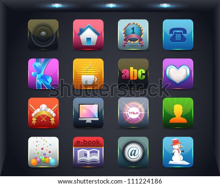 Apps Icon Vector Design 02 - stock vector