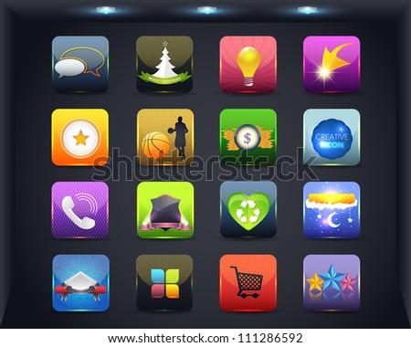 Apps Icon Vector Design 04 - stock vector