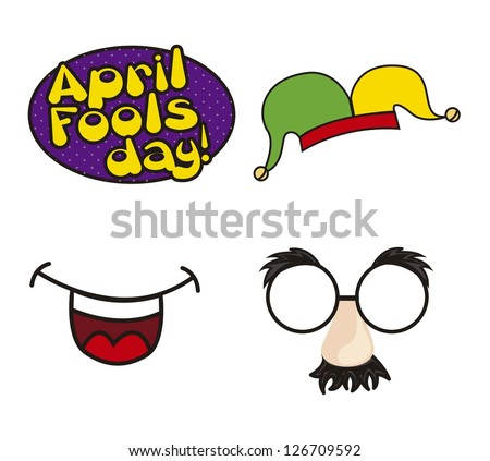 april foods day illustration with elements. vector background - stock vector