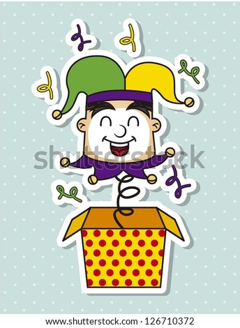 april foods day illustration with jester . vector background - stock vector