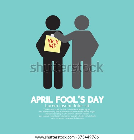 April Foolâ??s Day Concept Symbol Vector Illustration - stock vector